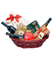 Chocolate and Wine Gift Basket