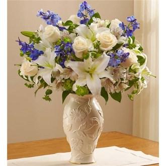 Loving Blooms In Lenox Blue & White