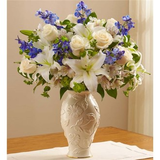 Loving Blooms In Lenox Blue & White