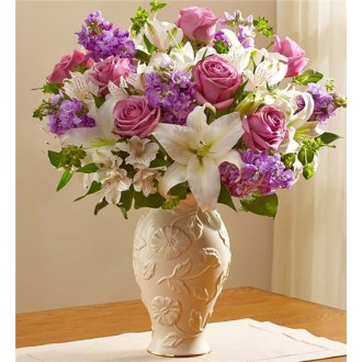 Loving Blooms In Lenox Lavender & White