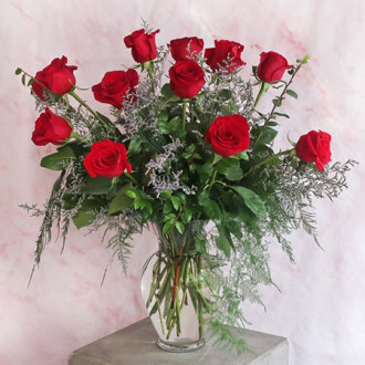 Dozen Red Roses Arranged
