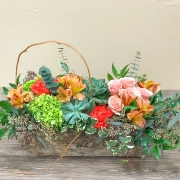 Northwest Coral Blooms with Succulents Garden