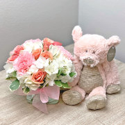 Sweet and Soft Bouquet with Plush Pig