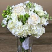Petite White Bridal Bouquet