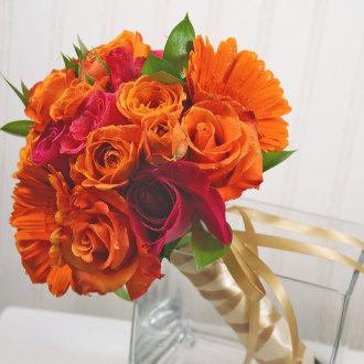 Vibrant Sunrise Bridal Bouquet