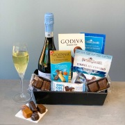 Chocolates with Bubbly Basket