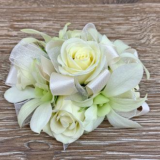 Creamy White Wristlet Corsage