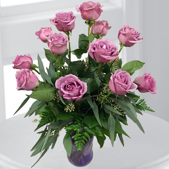 Dozen Long Stem Lavender Roses