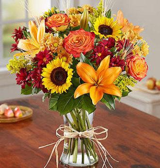Ballard's Fresh Fall Vase Arrangement