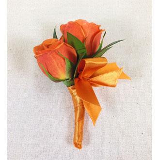 Orange Crush Boutonniere