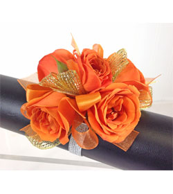 Orange Crush Wrist Corsage
