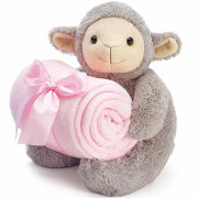 Baby Girl Lamb with Blanket