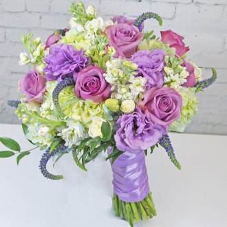 Lavender Cream Bridal Bouquet