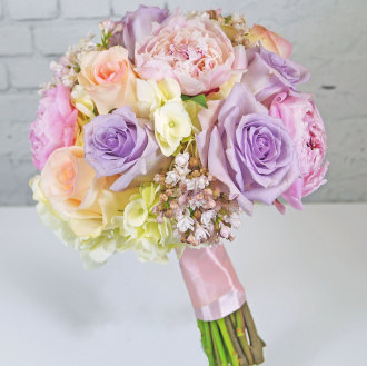 Spring Pastel Bridal Bouquet