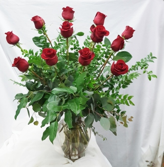 Red Freedom Roses – Dozen