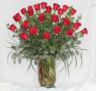 Two Dozen Premium Red Roses