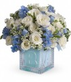 Teleflora's Baby Block Boy(Blue)