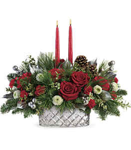 Teleflora\'s Merry Mercury Centerpiece by CCF