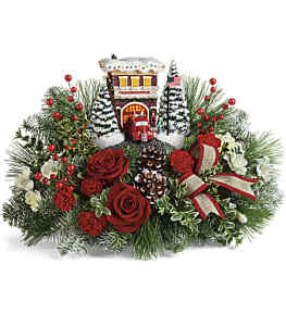 Thomas Kinkade\'s Festive Fire Station by CCF