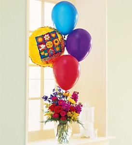 Balloons and a Boost - by Charleston Cut Flower Co.