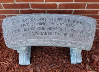 A Heart of Gold Bench SM#1625
