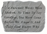 No farewell words...SM#1940