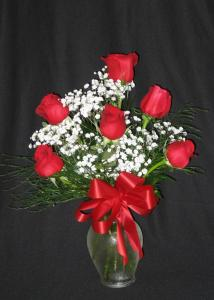 6 Long Stem Roses