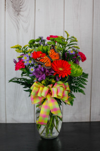 Bel Aire Butterfly Gingham Bouquet