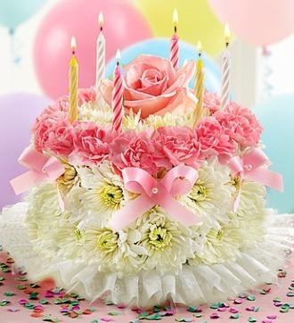 PASTEL BIRTHDAY FLOWER CAKE