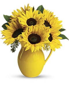 Sunny Day Pitcher of Sunflowers