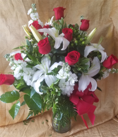 Roses and Lilies and stock