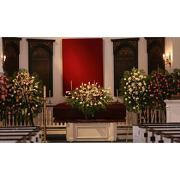 Flowers for service in funeral home