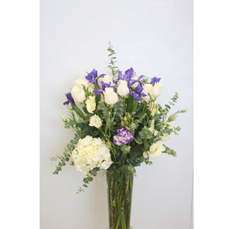 White and Blue Elegance Floral Arrangement