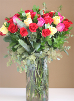 4 DZ Roses Mixed Colors