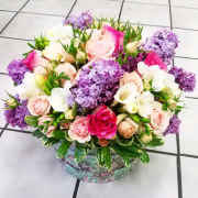 spring mix la flower box