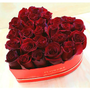 la heart shape roses box delivery