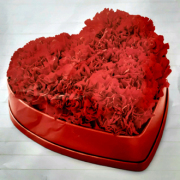 red cornations floral heart