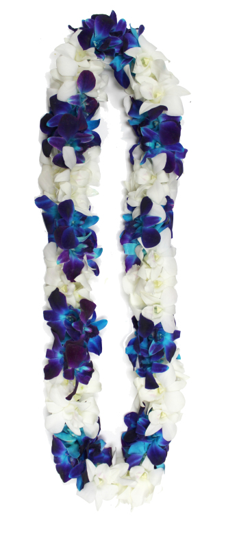 Double Blue Orchid Lei