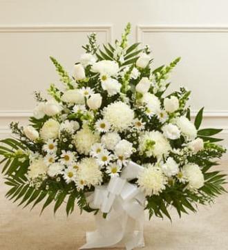 Funeral Basket White