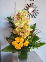 Rose & Cymbidium Orchid Cube
