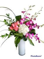 Dendrobium Orchid, Rose & Hydrangea