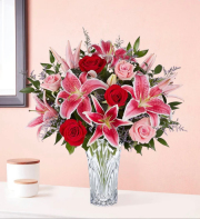 Blushing roses lily