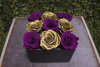 Purple Gold Mix Arrangement Preserved Roses