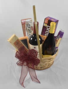 Bountiful Wine And Cheese Basket