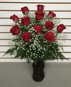 Valentines Dozen Roses Arranged