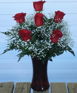 VALENTINES 6 ROSES ARRANGED
