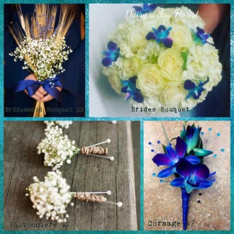 Something Borrowed, Something Blue Wedding Bouquet