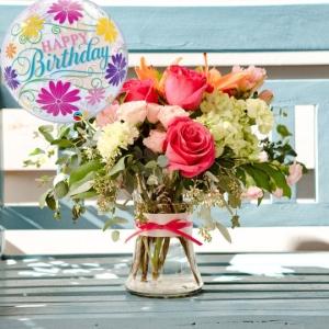 The Happy Birthday Blush Bouquet