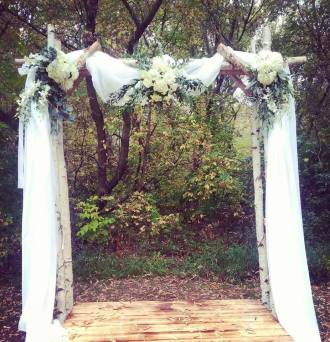 Moonbeam Wedding Arch Decorations