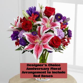 Designer's Choice Anniversary Floral Arrangement